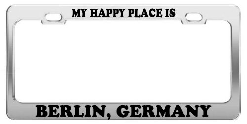 MY HAPPY PLACE IS BERLIN, GERMANY License Plate