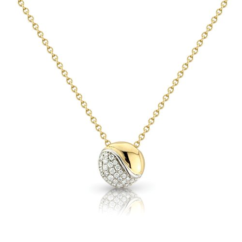 Jewelco London 18ct White and Yellow Gold - Diamond Necklet - Chain