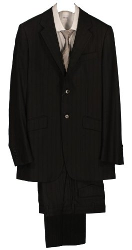 Paul Smith Single Breasted 2 Button Stripe Suit - Black