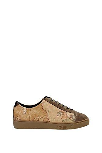 1 CLASSE ALVIERO MARTINI sneakers donna marrone beige pelle camoscio AF219 (40 EU)