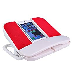 Cygnett SpeakUp Telephone Speaker System for iPhone/Smartphones/3.5mm Devices (White/Red) - CY0752SSSUP