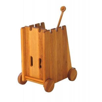 Katapult für Ritterburg Festung Kastell Burg Massiv-Holz, CLAMATEC ...gutes Spielzeug & mehr