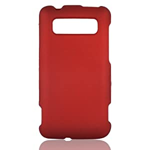 Talon Snap-On Hard Rubberized Phone Shell Case Cover for HTC 7 Trophy (Red)