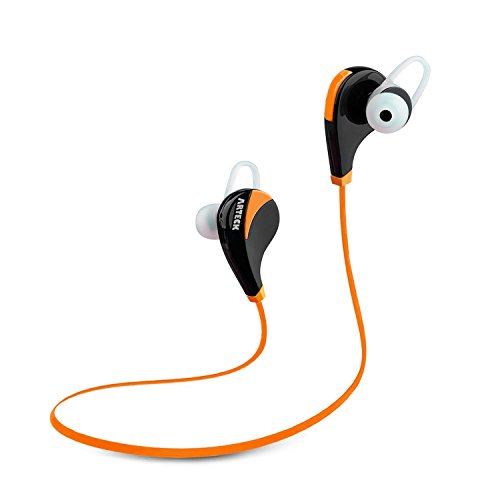 Click to buy Arteck Wireless Bluetooth Sport Headphones w/Mic for Running Sports Earbuds with 5-Hour Playing Battery for iPhone iPod Android Smart Phones-Orange - From only $17.97