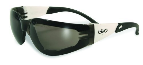 Rider Plus Foam Padded Smoke Lenses Safety Glasses