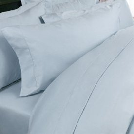Queen Blue 100% Egyptian Cotton Sateen 4-piece Sheet Set 400 TC