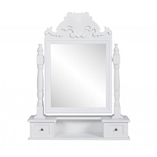 vidaXL-Kleine-Kommode-mit-einem-Spiegel-und-zwei-Schubladen
