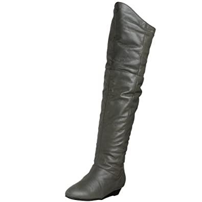 Chinese Laundry Women's Turbo Leather Wedge Boot,Smoke,8.5 M US