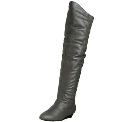 Chinese Laundry Women's Turbo Leather Wedge Boot,Smoke,10 M US