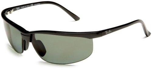 Ray-Ban Unisex RB4021P Polarized Sunglasses, Black/Grey Lens