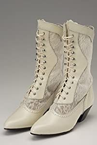 Victorian Boots & Shoes Oak Tree Ivory Cathedral Boots $115.00 AT vintagedancer.com