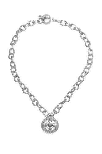 Golddigga da donna con pendente con diamanti, placcatura al platino