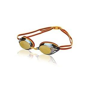 Speedo Vanquisher 2.0 Mirrored Swim-Swimming Competition Goggles - Dark Red