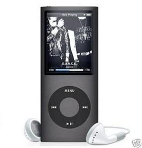 Mp4 Mp3 Player 2GB 1.8'' LCD with Fm Radio BLACK