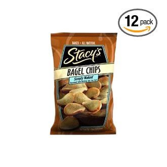 Stacy's Bagel Chips, Simply Naked, 8-Ounce Bags (Pack of 12) ( Value Bulk Multi-pack)