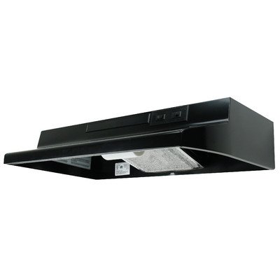 Air King AV1426 Advantage Convertible Under Cabinet Range Hood with 2-Speed Blower and 180-CFM, 7.0-Sones, 42-Inch Wide, Black Finish