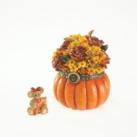 Boyds Resin Autumn's Bounty Trinket Box
