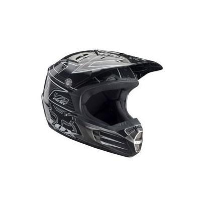 Image of Fox Racing V2 Youth MX Bicycle Helmet - Black - 01068-001 (B001N0W6SA)
