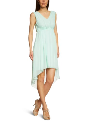 Damen Kleid lang 14015644 Watercolor Solid Dress Gr. 36 S Türkis BROOK GREEN