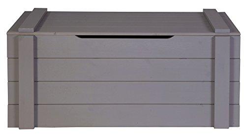 Coffre de rangement anthracite, H44 x L96 x P44 cm -PEGANE-