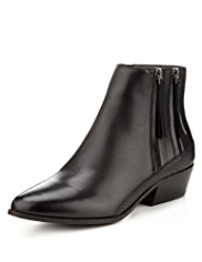 Footglove™ Leather Double Zip Boots