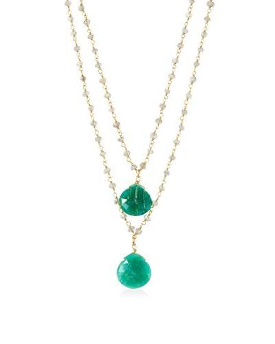 Rachel Reinhardt Labradorite & Amazonite Double Row Necklace