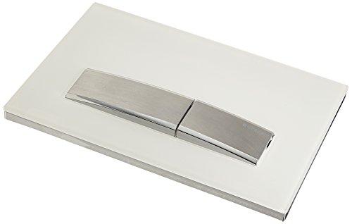 Sigma 50, Betätigungsplatte, 1 Stück, weiß / chrom gebürstet, 115.788.11.5