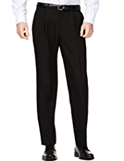 Straight Fit Single Pleat Trousers