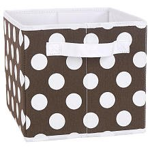 Koala Baby Canvas Dot Bin - Brown
