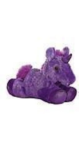 Aurora Fancy Pals Plush Bright Purple Unicorn Kids Gift