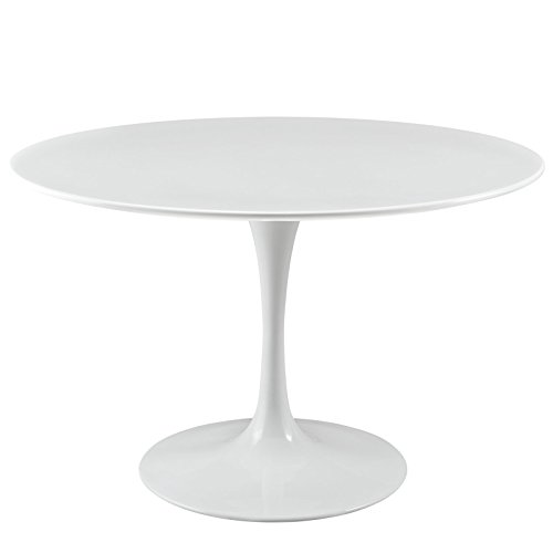LexMod Lippa Dining Table, 47-Inch, White