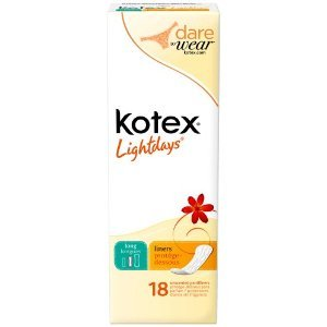 Kotex Natural Balance Pantiliners Unscented Long 18, Pack of 3 Boxes