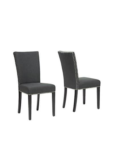 Baxton Studio Set of 2 Harrowgate Dining Chairs, Grey