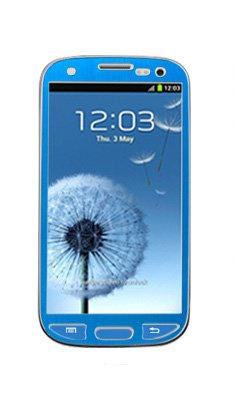 Samsung Galaxy S3 I9300 Aluminium Protective Screen Film Sticker Skin Full Body Matte Anti Finger Anti Glare Screen Protector Guard Film For Luxury Looks Diamond Cutting Siii (Blue)