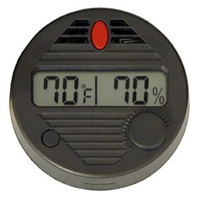 HygroSet II Round Digital Hygrometer for Humidors, 10-Second Refresh Rate, Battery Included, 2% Humidity and 1% Tempeture Accuracy for Cigar Humidors, by Quality Importers by Quality Importers Hygroset