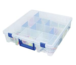 Flambeau Tackle Tuff Tainer Satchel Tackle Boxes (Clear, 15x14x3.6-Inch) by Flambeau Tackle
