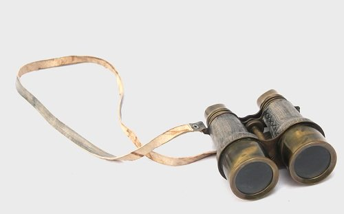 Collectibles Buy Antique Victorian Leather Covered Brass Binocular Finish 4
