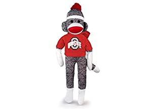 "NCAA Ohio State Buckeyes 20"" Sock Monkey"