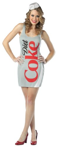 Rasta Imposta Womens Coca-Cola – Diet Coke Tank Dress Adult Costume One-Size Light Gray