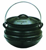 Best Duty Cast Iron Plat (Flat) Potjie Size 1 - Include complementary Lid Lifter Knob ($9.95 value) (Cast Iron Potjie compare prices)
