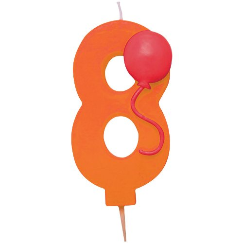 "Number ""8"" Pick Candle with Balloon Party Accessory"