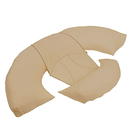 Leachco Body Bumper Contoured Body Pillow System, Khaki