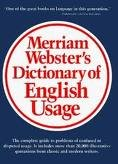 Merriam-Webster's Dictionary of English Usage Publisher:...