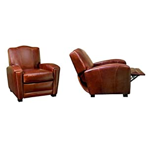 "Marvin ""Designer Style"" Art Deco Style Leather Chair Recliner ..."