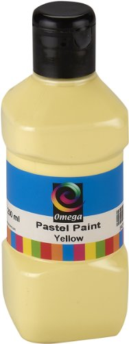 Omega Pastel Paint, 250ml, Yellow - 1