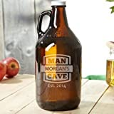 True Vino Reusable Amber Beer Growler With UV Protection, 1.9 Litres