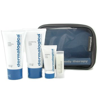 Body Therapy Skin Kit: Body Wash 75ml+ Hydrating Crm 75ml+ Exfoliating Scrub 21g+ Climate Control Lip Trt 4.5g+ Bag