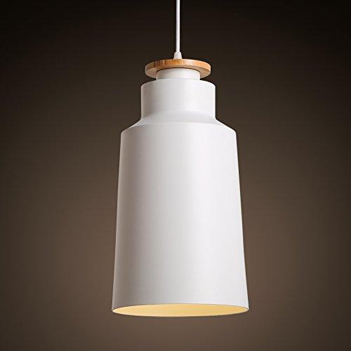 TYDXSD Ideas de iluminación de salón moda nórdica hierro comedor sala dormitorio conjunto araña de blanco y negro 200 * 365mm , white