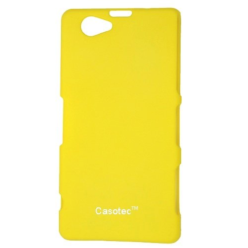 Casotec Ultra Slim Hard Shell Back Case Cover w/ Screen Protector for Sony Xperia Z1 Compact - Yellow  available at amazon for Rs.125