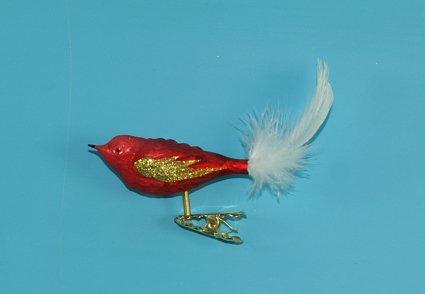 Vogel mit Federschwanz Eislack